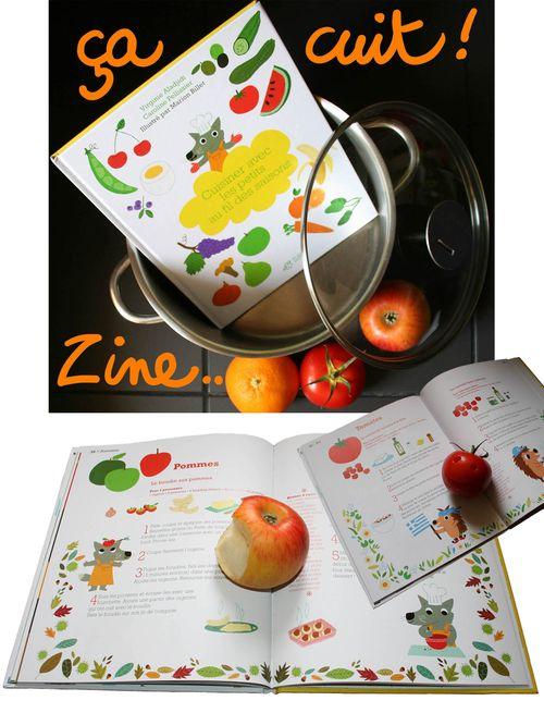 Page livre de cuisine