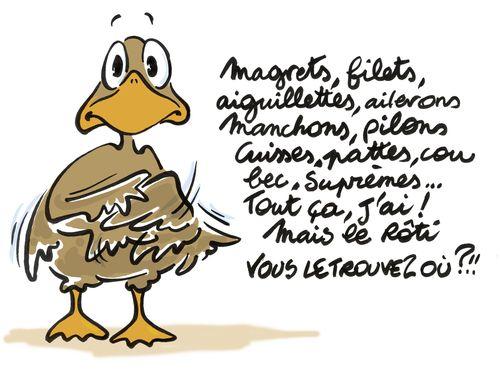 Canard en rôti