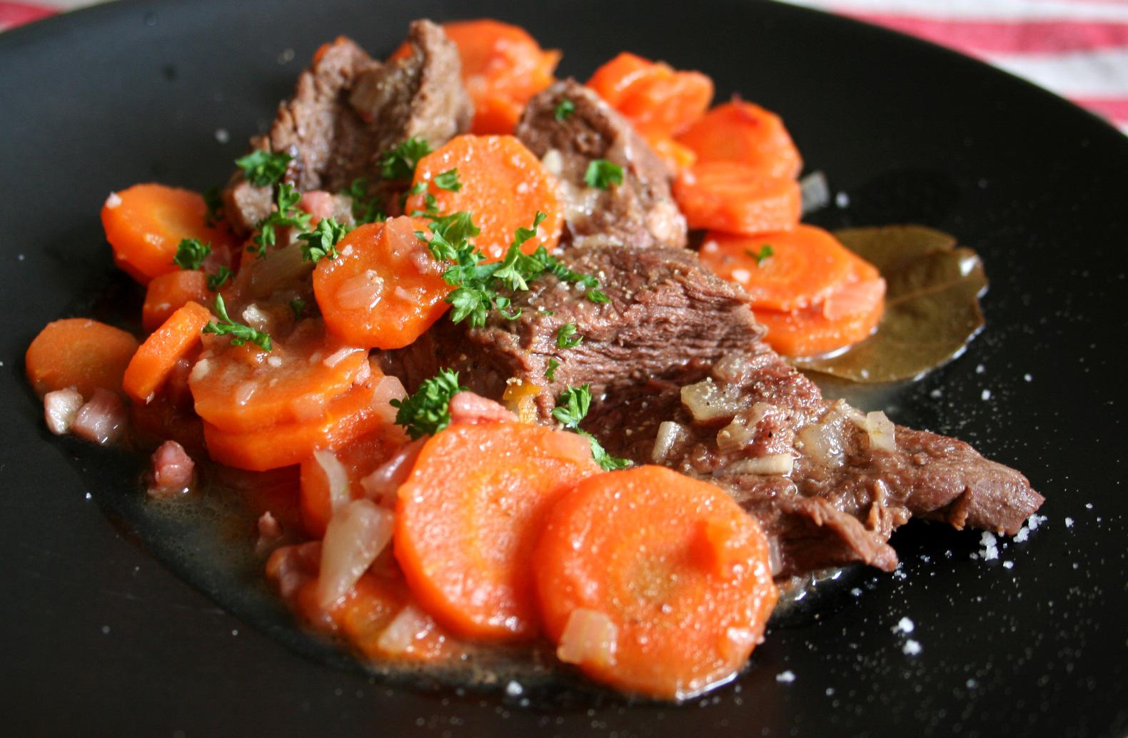 Boeuf carottes avec ou sans cocotte - Que cuisiner avec des carottes ...