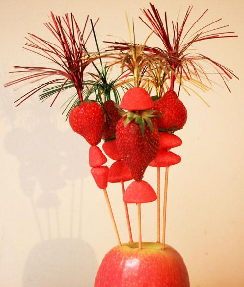 Brochettes-fraises