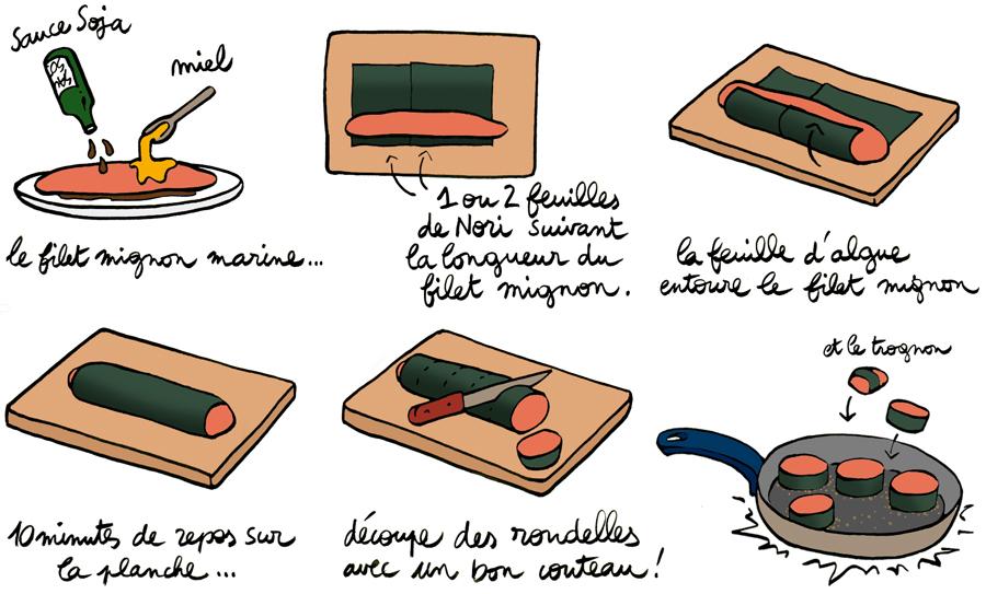 Filet-mignon-aux-algues-japonaises-nori