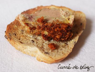 foie gras au pain d'épice tartine