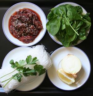 boeuf chinois épinards