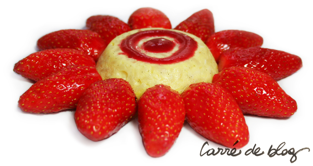Gâteau de riz fraises CDB