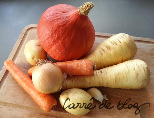 soupe potimaron légumes