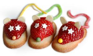 souris fraises seules
