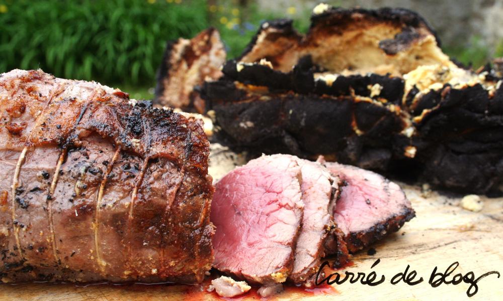 Rôti de bœuf au feu ! on