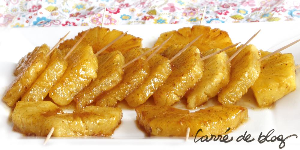 ananas au caramel