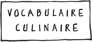 Vobulaire culinaire de Carré de blog